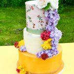 English Garden Wedding Edible Images Fresh Flowers