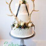Antlers Scottish Wedding Roses Thistles Foliage
